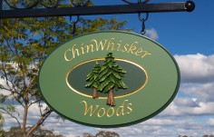 Chinwhisker Woods Cottage Sign