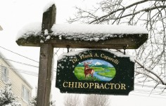 Chiropractor Medical Office Sign on Site