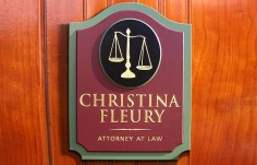 Christina Fleury Law Office Sign