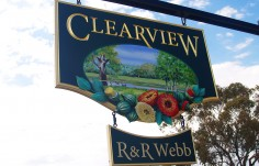 Clearview Hanging Sign