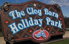 The Clog Barn Holiday Park Sign