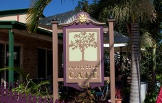 Cocoa Tree Cafe Sign On Site
