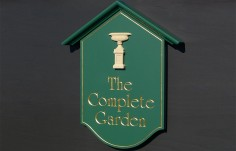 The Complete Garden Business Sign