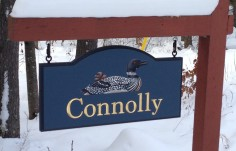 Connolly Family Name Sign