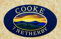 Cooke Family Name Sign