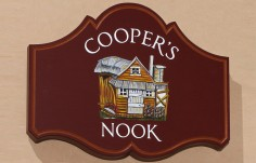 Coopers Nook Cottage Sign