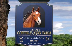 Copper Bay Farm Horse Sign