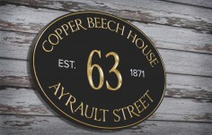 Copper Beech House Sign