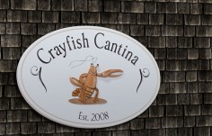 Crayfish Cantina Sign