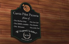 Curtis Pilot Pizzeria Sign