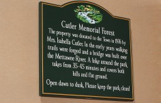 Cutler Memorial Forest Sign
