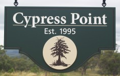 Cypress Point Hanging Sign