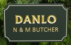 Danlo House Name Sign