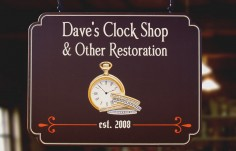 Dave's Clock Shop Business Sign