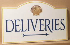 Deliveries Wayfinding Sign