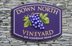 Down North Vineyard Winery Sign