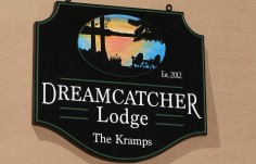 Dreamcatcher Lodge Sign