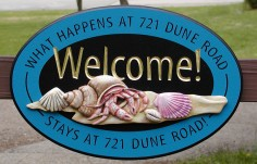 Dune Road Welcome Sign