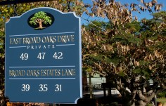 East Broad Oaks Subdivision Sign
