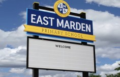 East Marden Primary School Sign