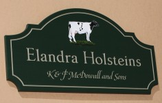 Elandra Holsteins Farm Sign