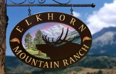 Elkhorn Mountain Ranch Wildlife Sign