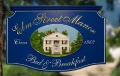 Elm Street Manor Hotel Sign