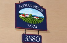 Elysian Fields Farm Sign