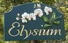 Elysium House Name Sign