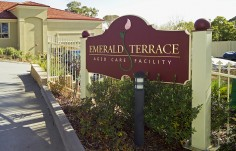 Emerald Terrace Sign On Location