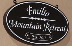 Emilio Mountain Retreat Sign