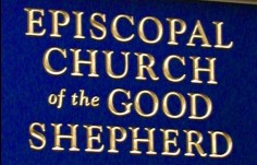 Episcopal Church sign Detail