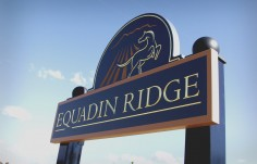 Equadin Ridge Horse Sign