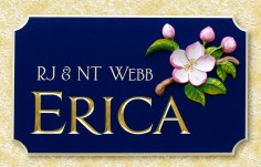 Erica House Sign