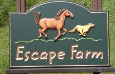 Escape Farm Horse Sign
