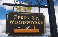 Ferry Street Woodworks Business Sign