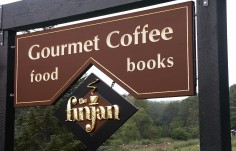 Finjan Cafe Sign