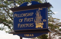 First Fleeters Club Sign