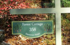 Forest Cottage Sign On Site