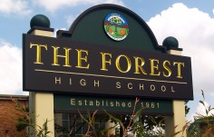 The Forest High School Sign