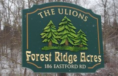 Forest Ridge Acres Property Sign