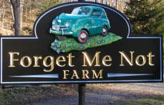 Forget Me Not Farming Sign