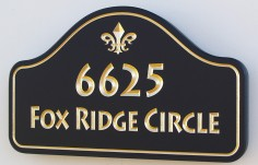 Fox Ridge Circle House Number Sign