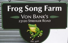 Frog Song Farm Sign