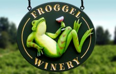 Froggel Winery Sign