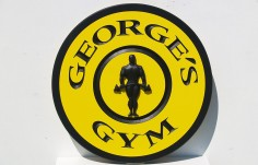 George's Gym House Sign