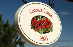 Geranium Cottage Sign