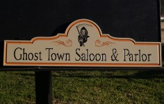 Ghost Town Saloon Pub Sign
