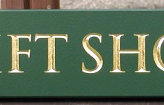 Gift Shop Quarterboard Sign