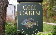 Gill Cabin Fish Property Sign